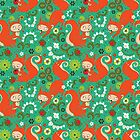 Nutty Squirrel Pattern  by Kimazo