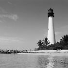 Cape Florida Lighthouse - B&W Film by njordphoto