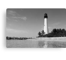 Cape Florida Lighthouse - B&W Film Canvas Print