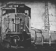 A Train to Chicago in Black and White by Kadwell