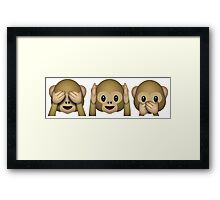 See No Evil, Hear No Evil, Speak No Evil Framed Print