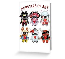 Monsters of Art Greeting Card