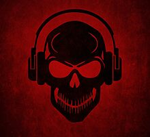 Skull with Headphones - Rave - Electro - Hardstyle by badbugs
