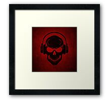 Skull with Headphones - Rave - Electro - Hardstyle Framed Print