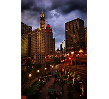Dining on the River Photographic Print