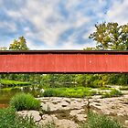 Cataract Falls Covered Bridge over Mill Creek by Kenneth Keifer