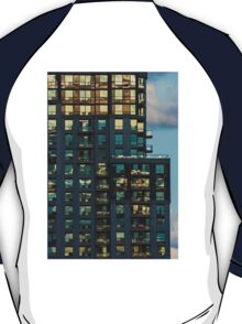Apartment Tower Sunset Reflections T-Shirt