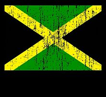 Jamaican Flag (distressed, any background) by L H Kooyong