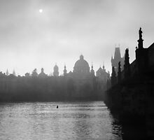 Prague through the fog by maddie5
