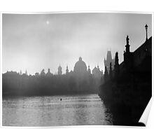 Prague through the fog Poster