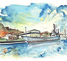 Warship In Cartagena by Goodaboom