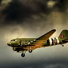 Battle of Britain memorial flight Dakota  by larry flewers
