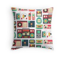Retro Technology Throw Pillow