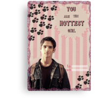 My Teenwolfed Valentine [You are the hottest girl] Canvas Print