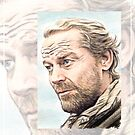 Iain Glen miniature by wu-wei
