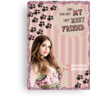 My Teenwolfed Valentine[You're My New Best Friend] Canvas Print