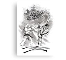 Karate kyokushinkai whit dragon poster Canvas Print