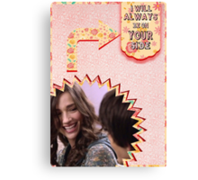 My Teenwolfed Valentine[ I'll Always Be On Your Side] Canvas Print