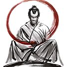 Samurai Large Poster Japanese Warrior by Mariusz Szmerdt