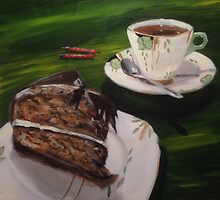 Hazelnut Cake and Art Deco China by John Klein