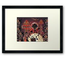 Dj Hammerhand cat - Party at OGM garden Framed Print