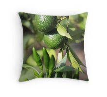 chili and orange in the garden Throw Pillow