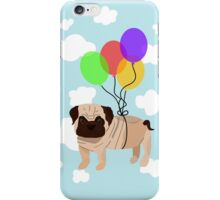 Pug in the sky iPhone Case/Skin