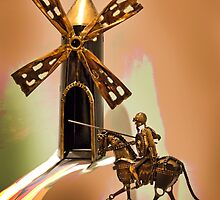 Don Quixote Tilting At Windmills by Al Bourassa