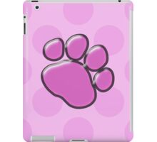Plastic Dog Paws, Traces, Paw-prints - Pink Black  iPad Case/Skin