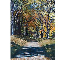 'Autumn Trail ( Bass Lake, Blowing Rock, NC)' Photographic Print