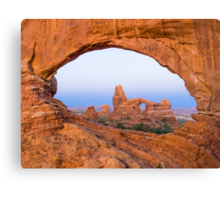 Turret Arch through the North Window Arch Canvas Print