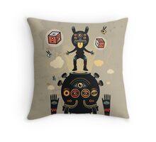 Monstertrap Throw Pillow