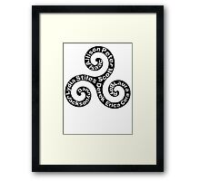 Triskellion - Names Framed Print