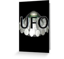 UFO   1970s TV series with the best flying saucer ever Greeting Card