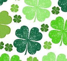 Saint Patrick's Day, Four Leaf Clovers - Green by sitnica