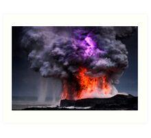 Kilauea Volcano at Kalapana 5 Art Print
