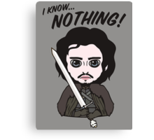 I Know Nothing... Canvas Print