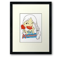 Khaleesi Heart Cream! Framed Print