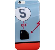 1969 Gulf Porsche 917, chassis 017/004 - driver side detail iPhone Case/Skin