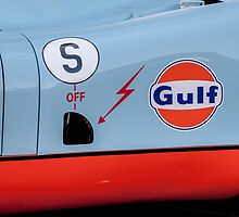 1969 Gulf Porsche 917, chassis 017/004 - driver side detail by MuethBooth