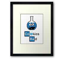 Cookies Bad! Framed Print