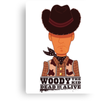 Woody the Kid Canvas Print