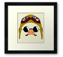 Porco Rosso - Marco Pagot face by AronGilli Framed Print