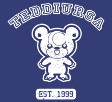Teddiursa - College Style (White) by mrbrownjeremy