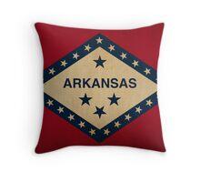 Arkansas State Flag VINTAGE Throw Pillow