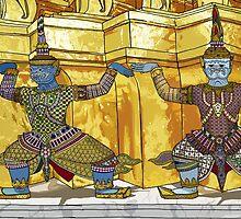 Three Warriors by seanvec