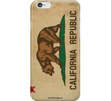 California State Flag VINTAGE iPhone Case/Skin