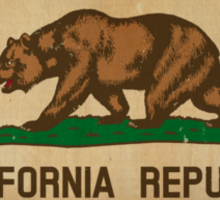 California State Flag VINTAGE Sticker