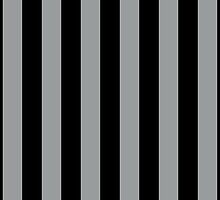 Stripes (Parallel Lines) - Gray Black  by sitnica