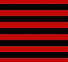 Stripes (Parallel Lines) - Red Black  by sitnica